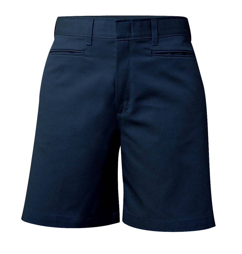 Girl's Mid-Rise Twill Shorts Navy #7362
