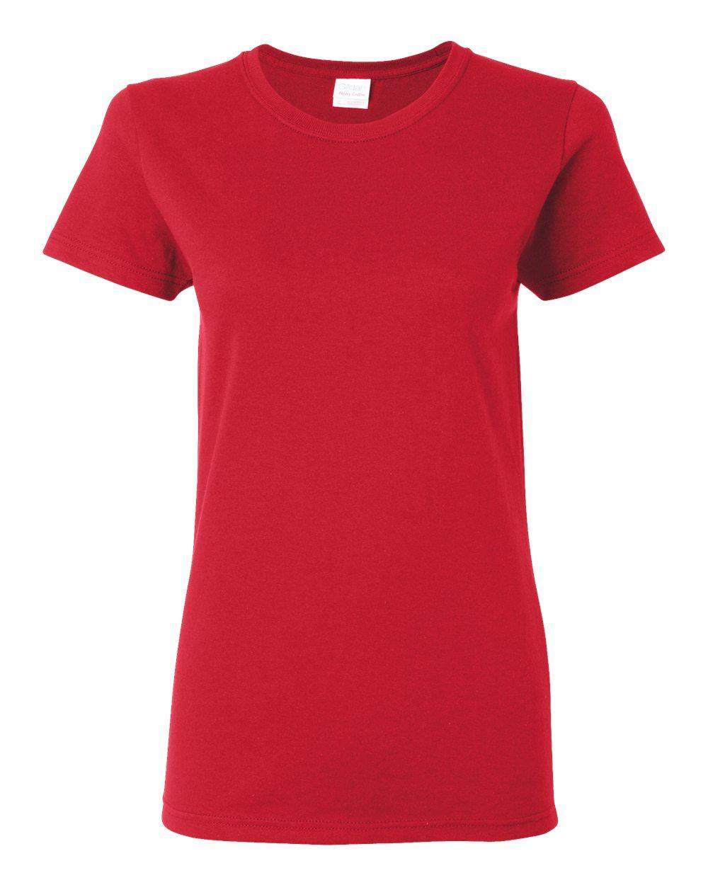 Ladies Gildan 100 Heavy Cotton T Shirt Item 5000l Big