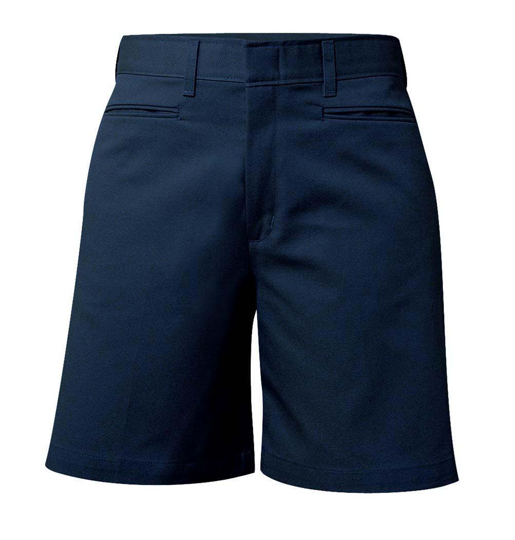 Girl's Mid-Rise Twill Shorts Navy #7362