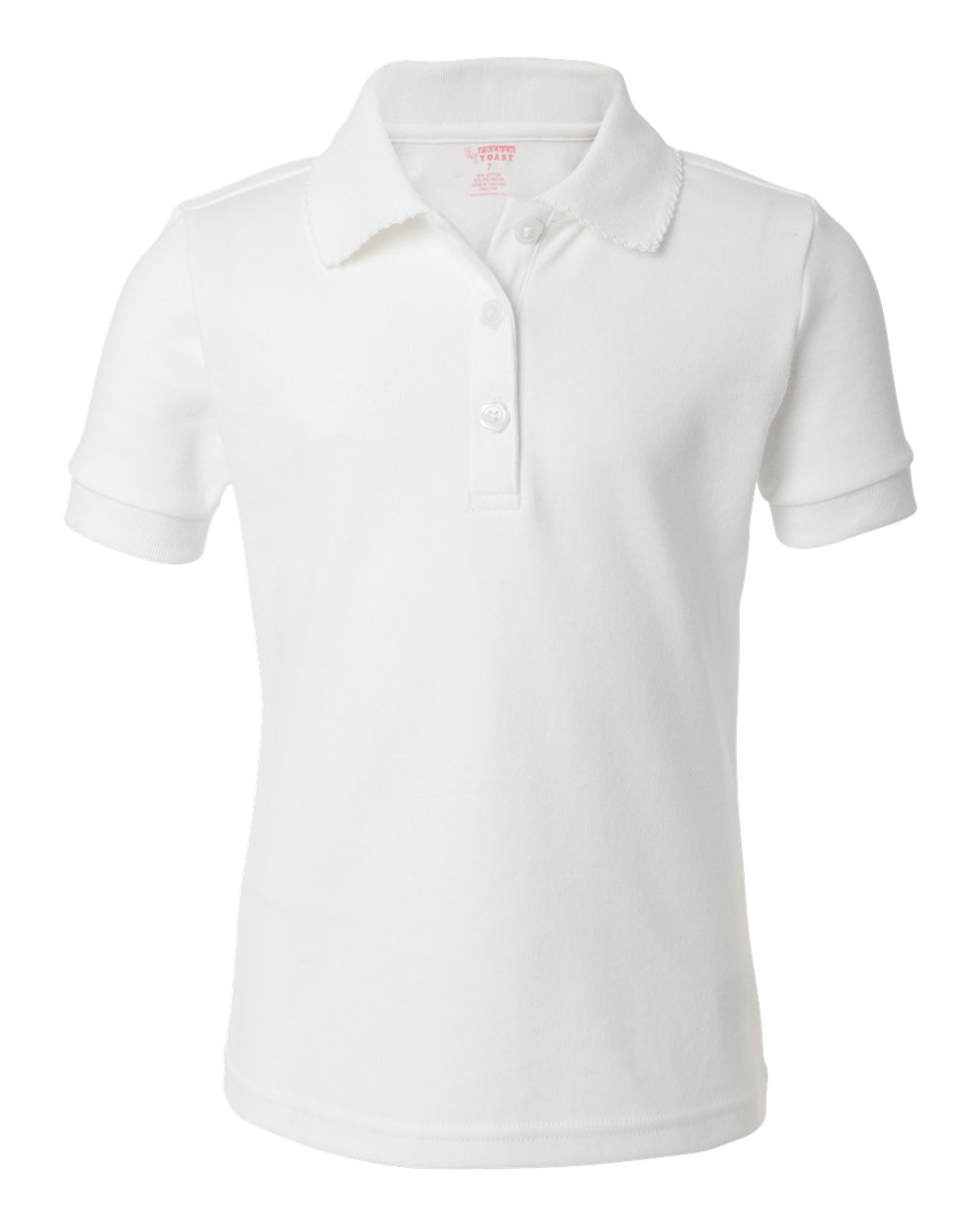 8828413d French Toast Girl's Short Sleeve Polo Shirt with Picot Collar – Item ...